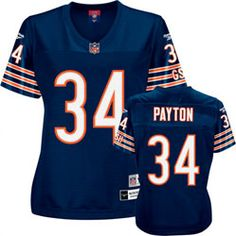 Walter Payton Reebok Premier Throwback Player Chicago Bears Women's Jersey $94.99 http://www.fansedge.com/Walter-Payton-Reebok-Premier-Throwback-Player-Chicago-Bears-Womens-Jersey-_646476235_PD.html?social=pinterest_pfid51-62048