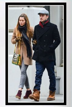 Buy it: Jessica Biel's Camel Coat and Beaded Bag