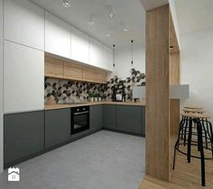 28 Fabulous Modern Kitchen Design Ideas For Small Apartment - House Design, Home, Kitchen Room Design, House Interior, Home Kitchens, Modern Kitchen Design, Minimalist Kitchen, Kitchen Style, Kitchen Design