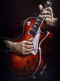 "Guitar art! ""Good Vibration"" Print by Paul Chase"