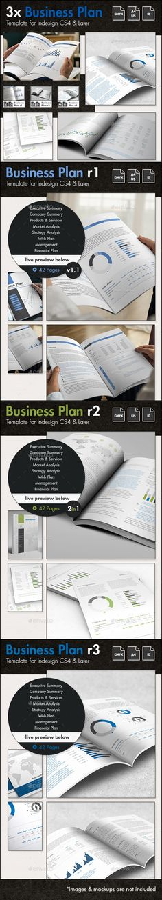 Business Plan Template Bundle - US Letter and A4 - Corporate Brochures