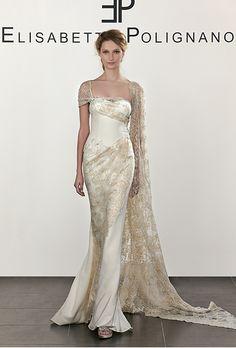 Brides: Elisabetta Polignano Bridal Wedding Dresses - Spring 2016 - Bridal Runway Shows - Brides.com