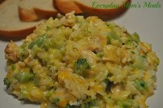 ~Chicken, Broccoli & Rice Casserole~ A terrific weeknight supper for any busy day. Filled with cheesy goodness, this is absolutely comfort food on a plate!