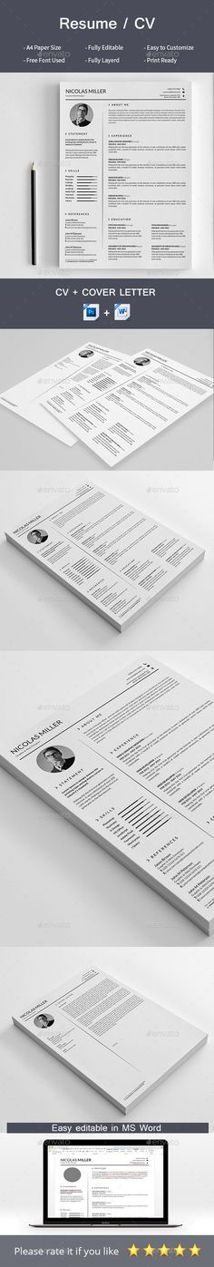 Marketing Executive Resume Word Resume Cv Template Ai Eps Psd Ms Word  Resume  Cv Design  Customer Service Sample Resume Word with Vlc Resume Playback Excel Resume  Resumes Stationery Download Here Httpsgraphicrivernet How Write A Resume Excel