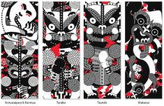 Made by Johnson features Maori art graphic design and Maori typography Maori Designs, New Zealand Art, Nz Art, Maori Art, Arts Ed, Black White Red, Print Patterns, Arts And Crafts, Head Shots