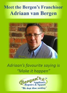 Bergen's Appliance Repairs & Spares was started by founder, Adriaan van Bergen, who established the first branch in Randpark Ridge, Johannesburg, The Appliance Repair, Bergen, University, Florida, Van, Technology, Group, Shit Happens, Tech