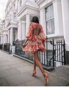 Zimmermann Open Back Dress #streetstyle #Zimmermann