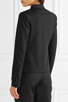 Karl Lagerfeld - Ikonik Punto Satin-trimmed Crepe Blazer - Black - IT42