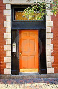 Hermes orange door! #zincdoor #colorcrave #hermes #orange