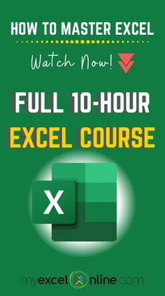 Pivot Table Excel Tutorial - Full Course For Beginners Life Hacks Computer, Computer Basics, Computer Help, Computer Programming, Computer Lessons, Computer Tips, Excel Cheat Sheet, Cheat Sheets, Free Tutorials
