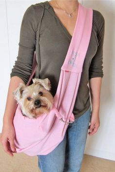 An adorable pet carrier perfectly sized for the ~adogable~ love of your life.