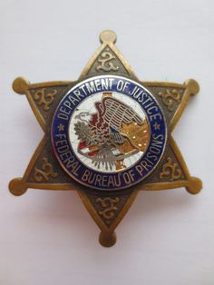 US Federal Department of Justice, Bureau of Prisons Guard Badge Police Uniforms, Police Badges, Fire Badge, Law Enforcement Badges, Indian Theme, Emergency Medical Services, Police Box, Department Of Justice, Nose Art