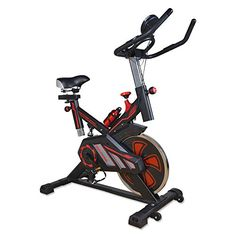 Docheer Pro Indoor Cycling Bike Exercise Bike Stationary Cycle Bike with LCD Monitor Spinning Bike Adjustable Trainer For Workout Fitness Heavy Duty 400Lbs *** Check out this great product-affiliate link.
