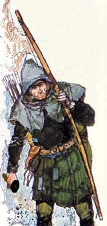 Art by Victor G Ambrus from Robin Hood, His Life and Legend by Bernard Miles.