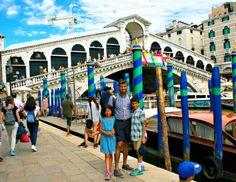 VENICE, ITALY- Posing in front of the Rialto Bridge