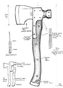 Knife Template, Hand Axe, Axe Handle, Beil, Armas Ninja, Knife Patterns, La Forge, Homemade Weapons, Carpentry Tools
