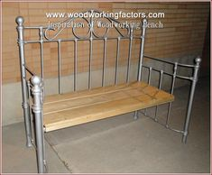 Bench Made From Iron Headboard Upcycling Iron