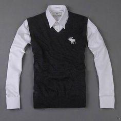 Abercrombie and Fitch gilet maglione nero di montagna