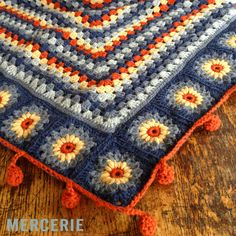 crochet blanket inspiration - I love these colors together!