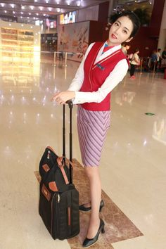 China Southern Airlines, Airline Flights, Flight Attendant, Dresses For Work, Fashion, Moda, Fashion Styles, Fashion Illustrations
