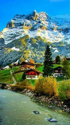 Swiss Village - Jungfrau region, Berner Oberland www. Beautiful Places To Visit, Wonderful Places, Beautiful World, Places To Travel, Places To Go, Travel Destinations, Places Around The World, Amazing Nature, Beautiful Landscapes