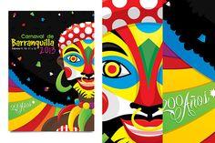 Ilustracion//Propuesta Afiche Carnaval de Barranquilla 2013