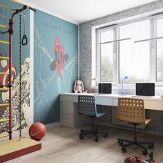 Superhero boys room by Vae Design Group.