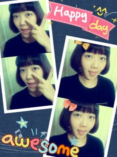 I had my hair cut yesterday! My ponytail was gone~ I like my new hair style:)