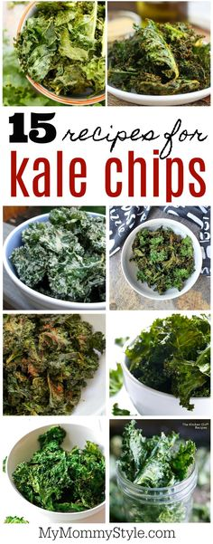 15 different delicious flavors of kale chips
