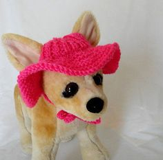 Pet Clothes Summer Outfit Crochet Hand-Knit  Brim Hat for Small Dog