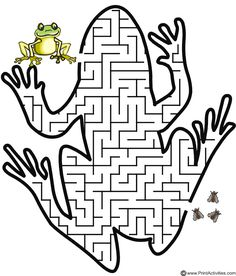 9 Leap Year Party Games and Printables! - 9 Leap Year Party Games and Printables! 9 Leap Year Party Games and Printables! – Tip Junkie - Frog Activities, Maze Worksheet, Leap Day, Maze Puzzles, Frog Crafts, Frog And Toad, Printable Coloring Pages, Party Games, Free Printables