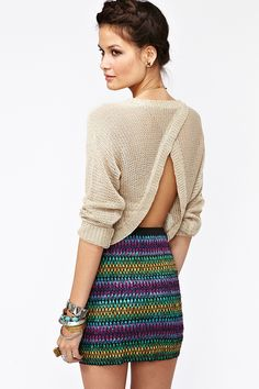 Split Up Knit - Taupe
