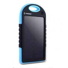 Cargador Solar de 5000 mAH, Resistente al agua USB dual