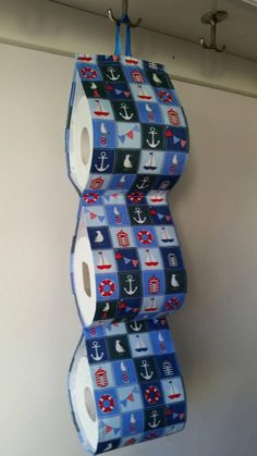 Fabric Decorative Toilet paper Holder storage at the wall / blue with marine motives/ WC holder/ bathroom/boat/ sea Loo Roll Holders, Beach Fabric, Toilet Paper, Etsy Shop, Bathroom, Trending Outfits, Storage, Unique Jewelry, Handmade Gifts