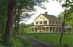 future home with wrap-around porch in the country <3