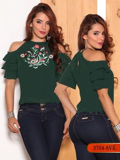 Blusa moda colombiana vikats - ref. Casual Wear, Casual Dresses, Western Tops, Magazine Mode, Couture, Blouse Vintage, Fashion Quotes, Blouse Designs, Cool Outfits
