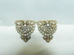 Antique Shoe Clips /  Art Deco Style with Clear by CatzShinySmiles
