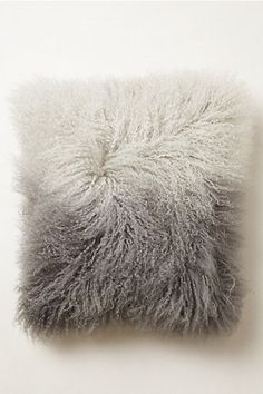 Ombre Luxe Fur Pillow - anthropologie.com