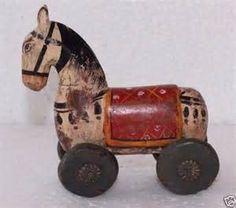 vintage wooden horse - Bing images