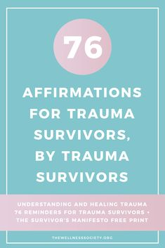 Healing Trauma: The Ultimate Online Guide Plus Free 42 Page eBook + Affirmations Cards Understanding and Healing Trauma + 76 Reminders for Trauma Survivors + The Survivor's Manifesto FREE Print Mental Health Therapy, Mental Health Recovery, Mental Health Resources, Ptsd Recovery, Trauma Quotes, Trauma Therapy, Therapy Tools, Occupational Therapy, Affirmation Cards