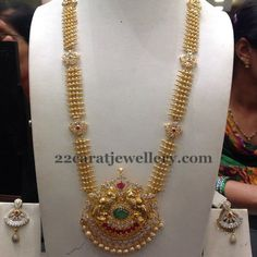 Jewellery Designs: CZ Gold Long Chain 78gms