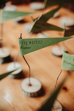Love these escort cards!