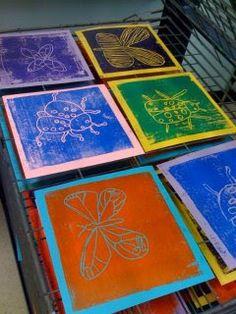 4th Grade bug printmaking