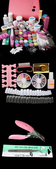 [Visit to Buy] UC-116 36W UV lamp,UV gel set,Nail Glue,False Nail,Clipper,nail brush set,buffer block,Acrylic powder set,nail toos set kit #Advertisement