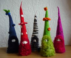 felted fairy gnome handmade wool felt by FeltedArtToWear on Etsy, £20.00