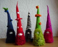 felted fairy gnome handmade wool felt by FeltedArtToWear on Etsy, £20.00