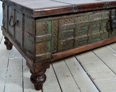 SALE Trunk Coffee Table Reclaimed Antique by hammerandhandimports, $579.00