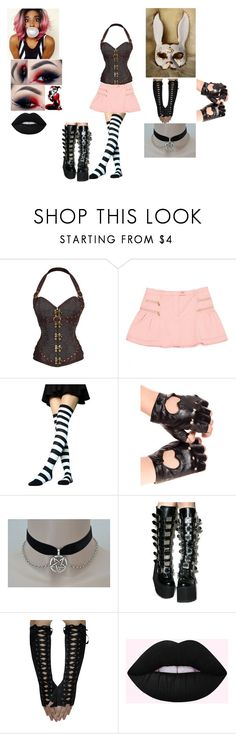 """""""🐰 Bubbles Crowley 🐰- Alternate Attire"""" by amyblood ❤ liked on Polyvore featuring WithChic, Moschino Cheap & Chic, Demonia, WWE, NXT, wweoc, wweattire and wweocattire"""