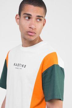 camiseta básica crudo verde naranja para hombre de Kaotiko · Camisetas 96354796764