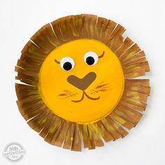 Paper Plate Lion